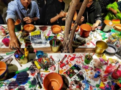 Painting activity to engage audience